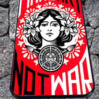 Obey make art not war for iPhone 4/4s/5/5S/5C/6, Samsung S3/S4/S5 Unique Case *95*