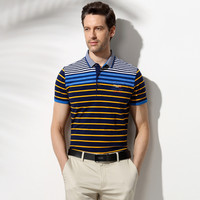 Stylish Stripes Knit Men's Fashion Luxury Casual Men Short Sleeve T-shirts [6544331779]