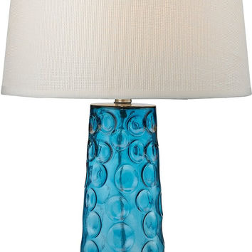 0-009117>1-Light 3-Way Table Lamp Blue