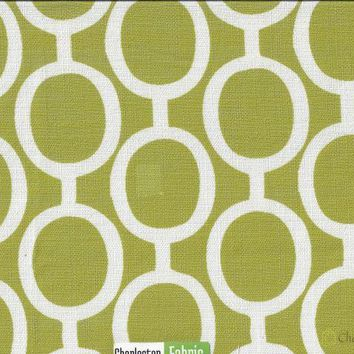 Solid Green Vector Circle Fabric
