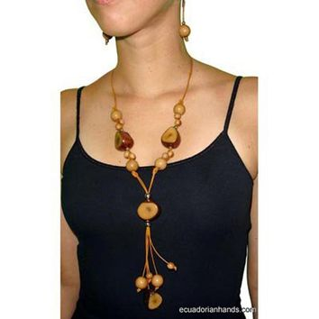 Canela Necklace and pendants Tagua Exotic Ivory | Tagua Necklaces | Tagua Earrings