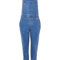 MOTO Slim Leg Dungarees - Denim - Clothing