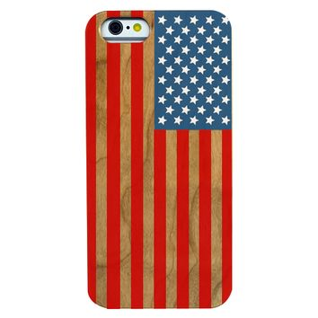 Flag - USA Wooden Phone Case Phone