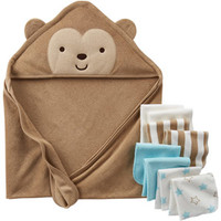 Walmart: Child of Mine by Carter's Newborn Baby Boy Bath Set, 9-Piece
