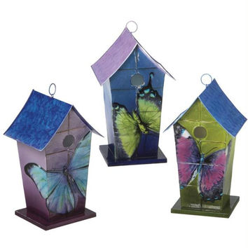 3 Bird Houses - Decorative Only