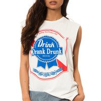 The Drink Drank Drunk Tee in White