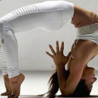 Pleated Mesh Yoga Pants