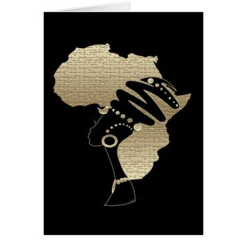 Africa In Gold Card