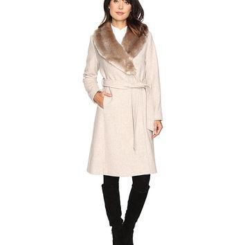LAUREN Ralph Lauren Faux Fur Collar Wrap