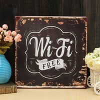 Wifi Free Tin Sign Vintage Metal Plaque Poster Bar Pub Home Wall Decor