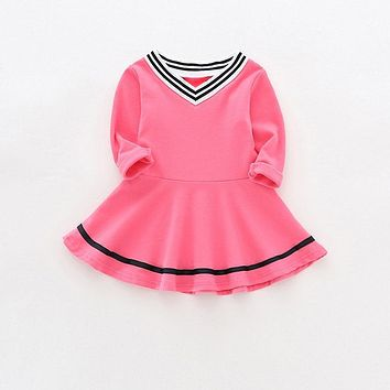Sun Moon Kids 2017 new girls autumn dress party tutu dress children clothing princess dress 4Colors baby toddler girl clothing