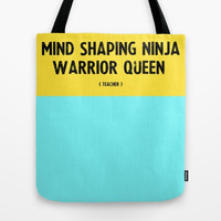 Teacher Gift - Personalized Teacher Tote Bag - Yellow and Blue