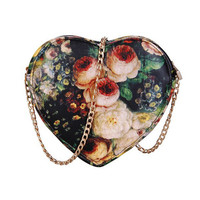 Floral Print Heart Bag (SOLD OUT)