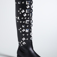 Oversize Studded Boots (Wide Width)