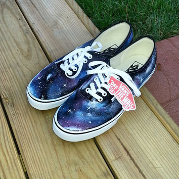 Custom Hand Painted Galaxy Print Vans