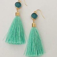 Mint Green Tassel earrings