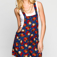 H.I.P. Floral Print Womens Short-Alls Multi  In Sizes