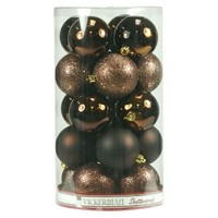 "2.4"" Assorted Ornament Ball - Chocolate (24 Per Box)"