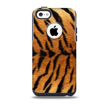 The Real Tiger Print Texture Skin for the iPhone 5c OtterBox Commuter Case