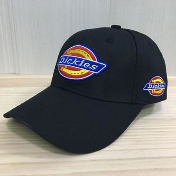 """""""Dickies"""" Unisex  Casual Fashion Letter Embroidery Baseball Cap Flat Cap Sun Hat"""