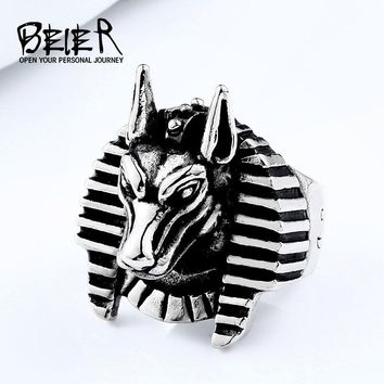 Beier Punk new store 316L Stainless Steel top quality league-legend Game Nasus Role Ring Amulet Animal Jewelry gift BR8-551