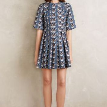 Paul & Joe Sister Curious Cat Dress in Blue Motif Size:
