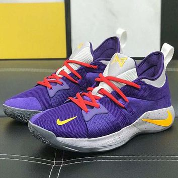 Nike PG2 Fashion Men Casual Basketball Running Sport Shoe Sneakers Purple I-A0-HXYDXPF