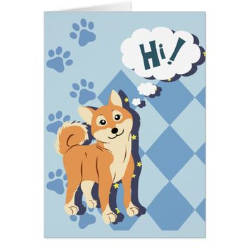 Thoughtful Shiba Inu Card