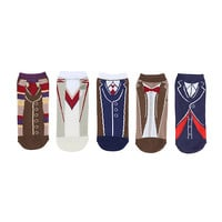 Doctor Who Doctor Outfits No-Show Socks 5 Pair