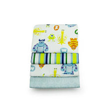 Disney Baby Monsters, Inc. Sulley 4-Pack Receiving Blankets