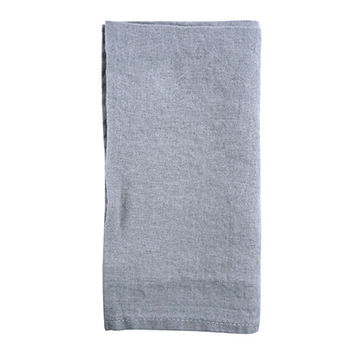 French Stone-Washed Linen Napkin in Light Grey