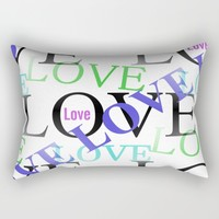 Crazy In Love Rectangular Pillow by Kathleen Sartoris