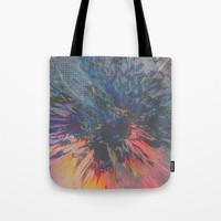 Glitch Wave Tote Bag by duckyb