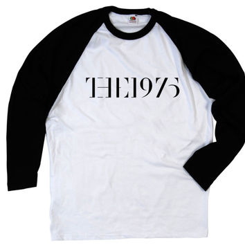 THE 1975 ROCK PUNK INDIE MUSIC BAND LONG SLEEVED BASEBALL T SHIRT