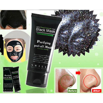 50ML Black Deep Cleansing Purifying Blackhead Pore Removal Peel-off Facial Mask = 1945878276