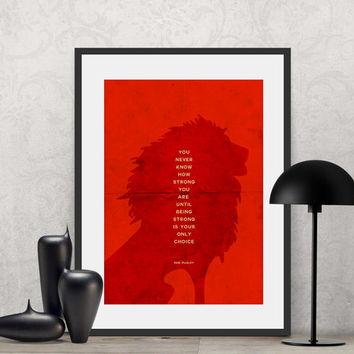 Bob Marley - You never know how strong you are... | Poster Quote, Poster Art, Printable Art, Minimalist Poster, Minimalist Art.