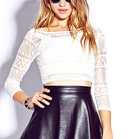 Edgy Perforated Crop Top