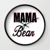 Mama Bear to Baby Girl Wall Clock by Love Lunch Liftoff