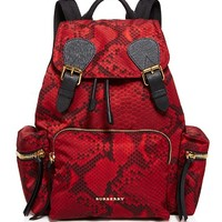 BurberryMedium Snakeskin Print Backpack