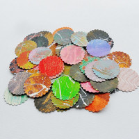 Circle Tags Scalloped Edged Paper Circles Shapes Collage Scrapbook Supplies Grab Bag Die Cut Embellishments Destash Confetti Craft Colorful