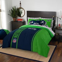 Seattle Seahawks NFL Full Comforter Bed in a Bag (Soft & Cozy) (76in x 86in)