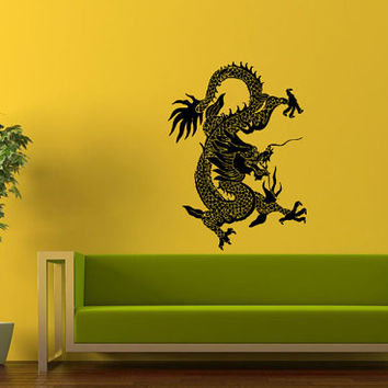 Wall Decor Vinyl Sticker Room Decal Art Chinese Fire Dragon Symbol Design 1208