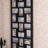 Amazon.com: 24-opening Wooden Wall Black Collage Photo Picture Frame Wall Decor, Holds Twelve 4-by-6-inch and Twelve 6-by-4-inch Photos: Home & Kitchen