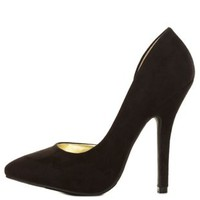 Black Pointed Toe D'Orsay Pumps by Charlotte Russe