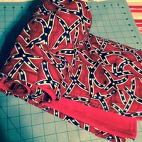 Rebel Flag minkey handcrafted lap/baby blanket