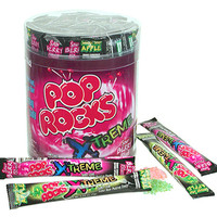 Pop Rocks Sour Xtreme Candy Packets: 48-Piece Tub