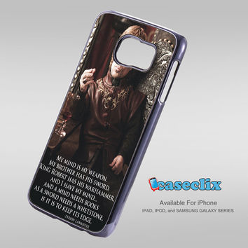 Tyrion Lannister quotes game of thrones For Smartphone Case