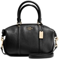 COACH CENTRAL SATCHEL IN PEBBLE LEATHER | macys.com