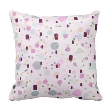 Watercolor Splash Effect Pattern Throw Pillow