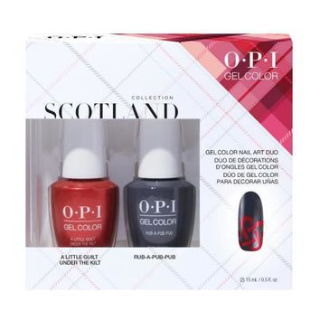 OPI GelColor - Scotland GelColor Nail Art Duo Pack #2